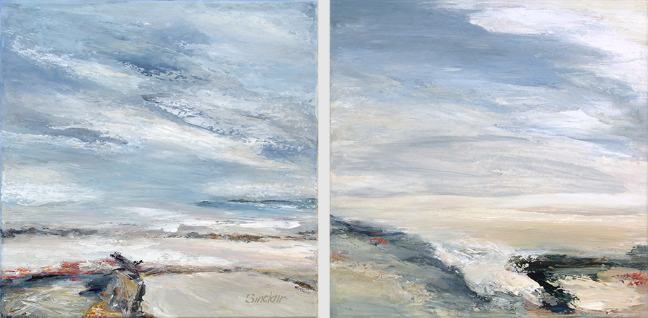atmospheric seascapes in gentle shades
